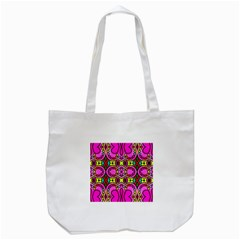 Colourful Abstract Background Design Pattern Tote Bag (white) by Simbadda