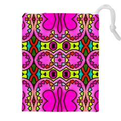 Colourful Abstract Background Design Pattern Drawstring Pouches (xxl) by Simbadda