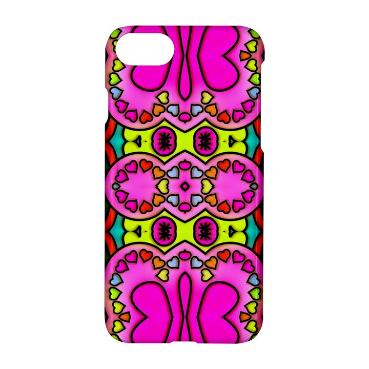 Colourful Abstract Background Design Pattern Apple iPhone 7 Hardshell Case