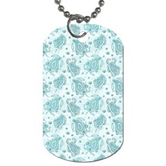 Decorative Floral Paisley Pattern Dog Tag (two Sides) by TastefulDesigns
