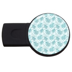 Decorative Floral Paisley Pattern Usb Flash Drive Round (2 Gb) by TastefulDesigns
