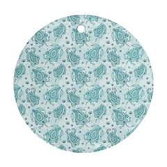 Decorative Floral Paisley Pattern Round Ornament (two Sides) by TastefulDesigns