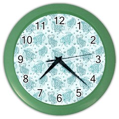 Decorative Floral Paisley Pattern Color Wall Clocks by TastefulDesigns