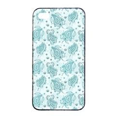 Decorative Floral Paisley Pattern Apple Iphone 4/4s Seamless Case (black) by TastefulDesigns
