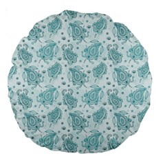 Decorative Floral Paisley Pattern Large 18  Premium Round Cushions by TastefulDesigns