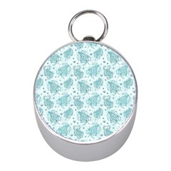 Decorative Floral Paisley Pattern Mini Silver Compasses by TastefulDesigns
