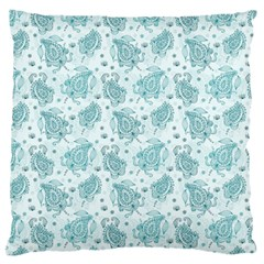 Decorative Floral Paisley Pattern Large Flano Cushion Case (two Sides) by TastefulDesigns