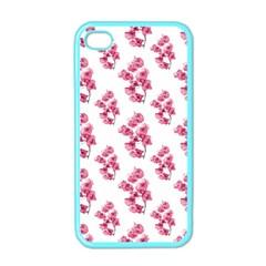 Santa Rita Flowers Pattern Apple Iphone 4 Case (color) by dflcprints