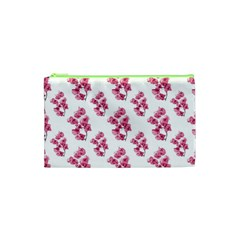Santa Rita Flowers Pattern Cosmetic Bag (xs) by dflcprints