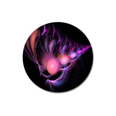 Fractal Image Of Pink Balls Whooshing Into The Distance Magnet 3  (round) by Simbadda