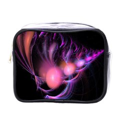 Fractal Image Of Pink Balls Whooshing Into The Distance Mini Toiletries Bags by Simbadda