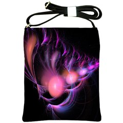 Fractal Image Of Pink Balls Whooshing Into The Distance Shoulder Sling Bags by Simbadda