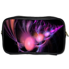 Fractal Image Of Pink Balls Whooshing Into The Distance Toiletries Bags 2 Side by Simbadda