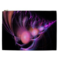 Fractal Image Of Pink Balls Whooshing Into The Distance Cosmetic Bag (xxl)  by Simbadda