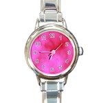 Pink Clouds Round Italian Charm Watch