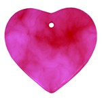 Pink Clouds Ornament (Heart)