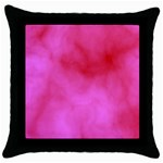 Pink Clouds Throw Pillow Case (Black)