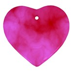 Pink Clouds Heart Ornament (Two Sides)