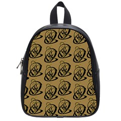 Art Abstract Artistic Seamless Background School Bags (small)  by Simbadda