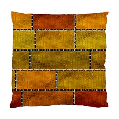 Classic Color Bricks Gradient Wall Standard Cushion Case (two Sides) by Simbadda
