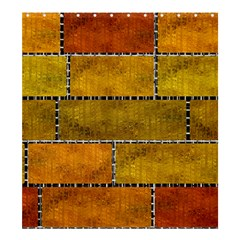 Classic Color Bricks Gradient Wall Shower Curtain 66  X 72  (large)  by Simbadda