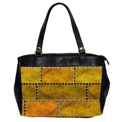 Classic Color Bricks Gradient Wall Office Handbags (2 Sides)  by Simbadda
