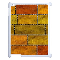 Classic Color Bricks Gradient Wall Apple Ipad 2 Case (white) by Simbadda