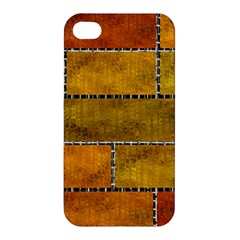 Classic Color Bricks Gradient Wall Apple Iphone 4/4s Hardshell Case by Simbadda