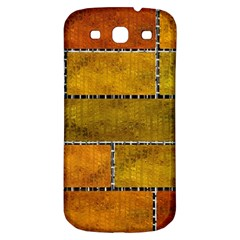 Classic Color Bricks Gradient Wall Samsung Galaxy S3 S Iii Classic Hardshell Back Case by Simbadda