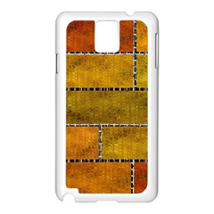 Classic Color Bricks Gradient Wall Samsung Galaxy Note 3 N9005 Case (white) by Simbadda