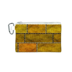 Classic Color Bricks Gradient Wall Canvas Cosmetic Bag (s) by Simbadda