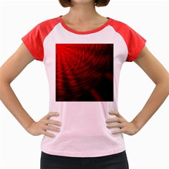 A Large Background With A Burst Design And Lots Of Details Women s Cap Sleeve T Shirt