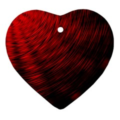 A Large Background With A Burst Design And Lots Of Details Heart Ornament (two Sides) by Simbadda