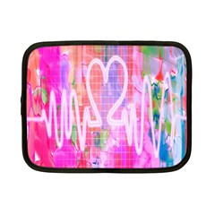 Watercolour Heartbeat Monitor Netbook Case (small)  by Simbadda