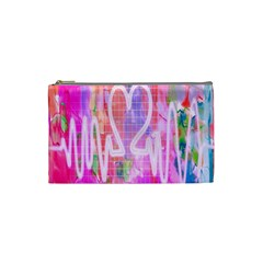 Watercolour Heartbeat Monitor Cosmetic Bag (small)  by Simbadda