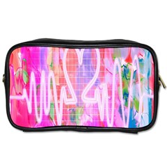 Watercolour Heartbeat Monitor Toiletries Bags 2 Side by Simbadda