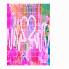 Watercolour Heartbeat Monitor Small Garden Flag (two Sides) by Simbadda