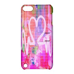 Watercolour Heartbeat Monitor Apple Ipod Touch 5 Hardshell Case With Stand by Simbadda