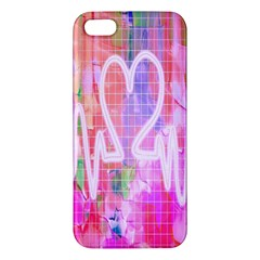 Watercolour Heartbeat Monitor Apple Iphone 5 Premium Hardshell Case by Simbadda