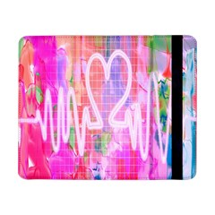 Watercolour Heartbeat Monitor Samsung Galaxy Tab Pro 8 4  Flip Case by Simbadda