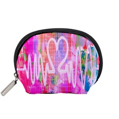 Watercolour Heartbeat Monitor Accessory Pouches (small)  by Simbadda