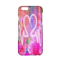 Watercolour Heartbeat Monitor Apple Iphone 6/6s Hardshell Case by Simbadda