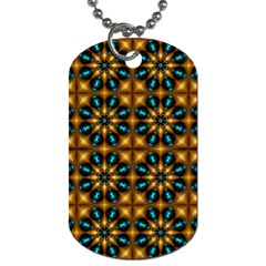 Abstract Daisies Dog Tag (two Sides) by Simbadda