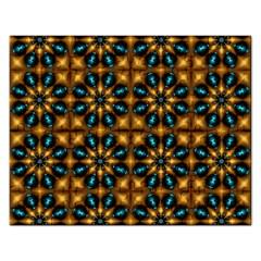 Abstract Daisies Rectangular Jigsaw Puzzl by Simbadda