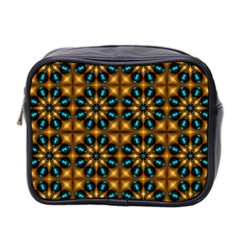 Abstract Daisies Mini Toiletries Bag 2 Side by Simbadda