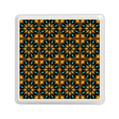 Abstract Daisies Memory Card Reader (square)  by Simbadda