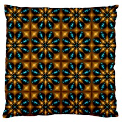 Abstract Daisies Large Cushion Case (one Side) by Simbadda