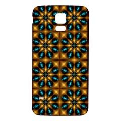 Abstract Daisies Samsung Galaxy S5 Back Case (white) by Simbadda