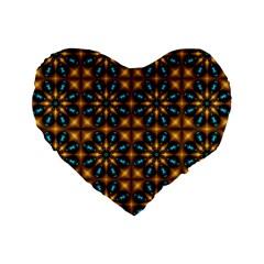 Abstract Daisies Standard 16  Premium Flano Heart Shape Cushions by Simbadda