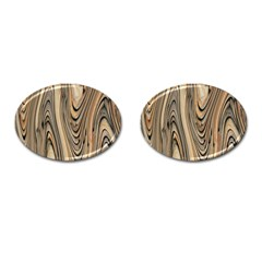 Abstract Background Design Cufflinks (oval) by Simbadda